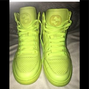 Gucci neon sneakers size 37.5